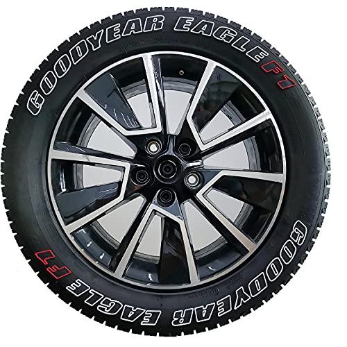 Pegatina para rueda de coche automotriz, 3D, contorno de letras, 3 colores, decoración de bricolaje, adhesivo de personalidad, para neumáticos (blanco, GOODYEAR EAGLEF1)