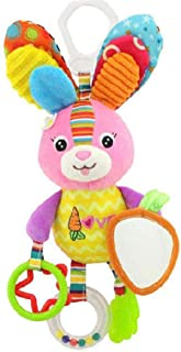 LUERME 赤ちゃん ベビーベッド ベビーカー 吊り人形 おもちゃ ガラガラ ラトル 可愛い 動物