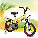 LJLYL Kinderfahrrad mit Stützrädern und Stoßdämpfungssystem für Kinder zwischen 3 und 12 Jahren, 12'14' 16'18 Kinderfahrrad,Gelb,12