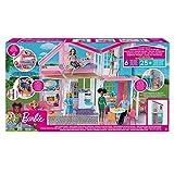 Mattel Canada Nuova Casa di Malibu Due Piani Richiudibile Compatibile con Barbie con Accessori Giocattolo 3+