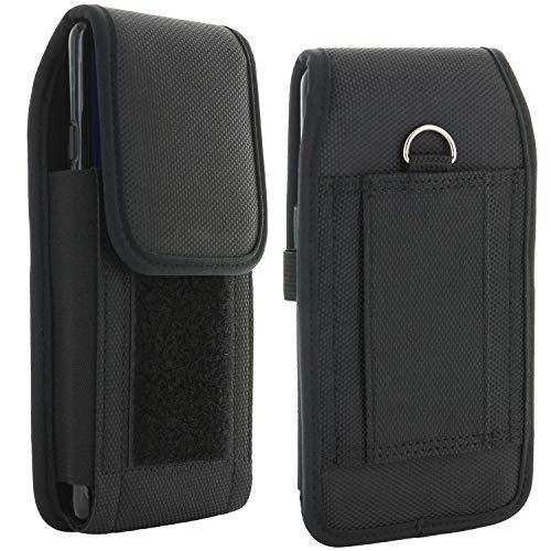 XiRRiX Handy Gürteltasche V7 - Smartphone Tasche passend für Huawei Y6 Y7 2019 / P Smart 2020 / Nokia 7.2 / Motorola Moto G7 G8 / Samsung Galaxy A21s A51 M21 M31 A71 - Gürtel Handytasche schwarz