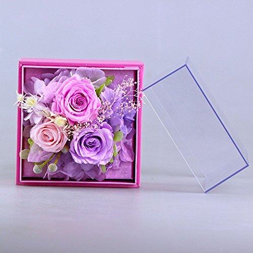 LKKLILY valentine de jour, fleurs fraîches, éternelle, fleurs, la Saint-Valentin, Transparent Boîte cadeau, cadeau d'anniversaire de création et décoration de la maison