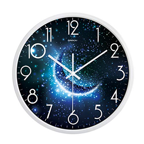 Horloge SOHO bleu ardoise et blanche La Chaise Longue