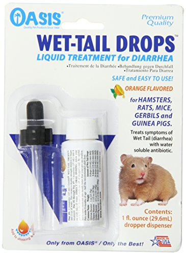 Oasis #80064 Wet Tail Drops- Liquid Treatment for Diarrhea, 1-Ounce
