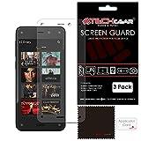 TECHGEAR [3 Stück Bildschirmschutz für Amazon Fire Phone - Ultra Klare Schutzfolie - mit Reinigungstuch + Applikationskarte