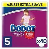 Dodot Activity - Pants Pañal-Braguita Talla 5, Fácil de Cambiar con Canales de Aire, 40 Pañales, 12 a 17 kg