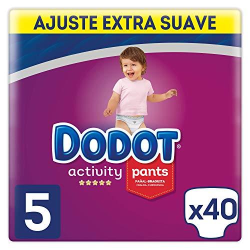 Dodot Activity blöjbyxor storlek 5, lätt att byta med luftkanaler 40 blöjor, 12–17 kg