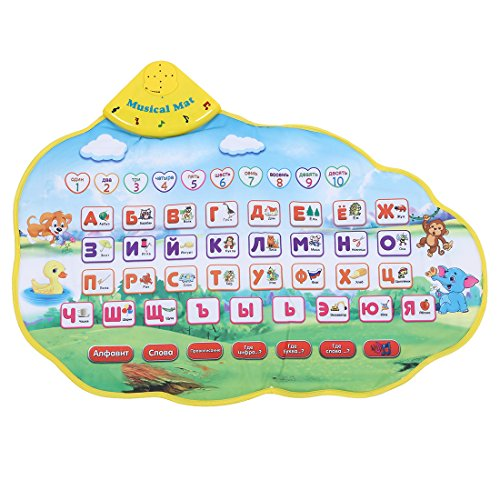 SODIAL(R) Bambini apprendono Mat Matita divertente di alfabeto del giocatore di lingua russa Matura apprendimento Tappeto fonetico del tono ABC Giocattolo