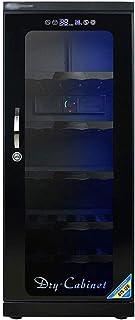 خزانة كهربائية جافة سعة 120 لتر، صندوق كبير لتفريغ الهواء لتخزين عدسة الكاميرا والمعدات البصرية، تعمل باللمس/الإضاءة/الضوض...