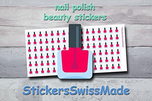 AUFKLEBER FÜR KALENDER || Nagellack || Schönheit-Beauty || kleine farbige Icons | für Kalender...