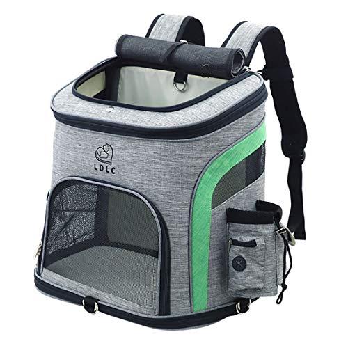 HYZH Groß Haustier Rucksäcke haustiertragetasche Atmungsaktive Outdoor Faltbarer für Hunde und Katzen 37x40x33cm