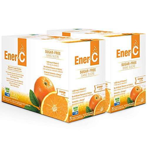 Ener-C Sugar Free Orange 1000mg Vitamin-C, Electrolytes & Vitamin-B, for Hydration, 2 Month Supply