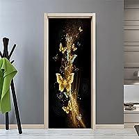 ドアデカール壁画ステッカー 蝶 3D 壁紙 ドア ステッカー セルフスティック キャビネット ポスター ドアの装飾