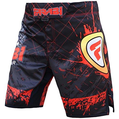 Farabi MMA Boxing Kickboxing Muay Thai Mix Martial Arts Cage Fighting Training Gym Wear Clothing Shorts Trunks (Small)