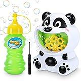 Magicfun Máquina de Burbujas Niños, Panda Soplador Automático de Burbujas con Solución de Burbujas, Juguetes de Burbujas para Celebracion Fiesta Boda Fiesta Día del Niño