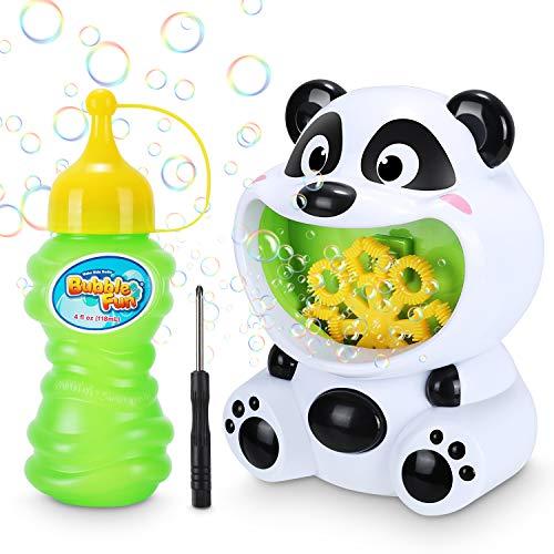 Magicfun Machine à Bulles Enfants, Panda Automatique Souffleur de Bulles avec Solution à Bulles, Jouet Soufflante à Bulles pour Anniversaire Fête Mariage Noël