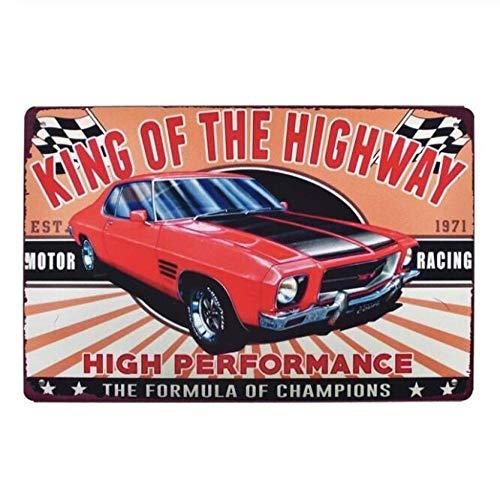 Qnmbdgm ijzeren schilderij wandplakkaat vintage metalen platen diesel decoratieve platen motorolie wandsticker garage kunst poster Rod Shop Decor