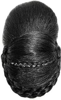 Remeehi Retro Braided Hair Chignon Synthetic Hair Bun Hairpiece Clip In Hair Buns Hair Pieces Bun Shoot Dark Brown Small
