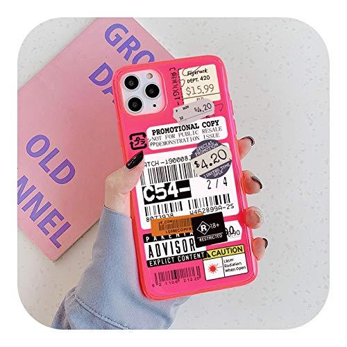 Fluorescente claro sello etiqueta código de barras teléfono caso para iPhone-XH180-02-For iphone7plus