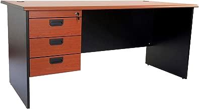 Mahmayi Silini Office Desk, Cherry/Black, GE180HD