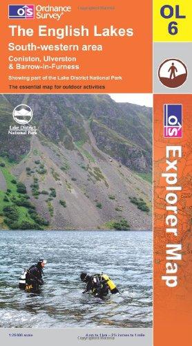 OS Explorer map OL6 : The English Lakes: SW