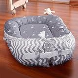 LNDD-Baby Nest Cushion Travel Bionic Uterusbett Sleeping Pods Schlafsack Cotton Snuggle Geeignet für Neugeborene Von 0-18 Monaten,Grau