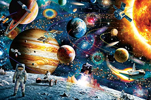 XKALXO 1000 Piezas De Rompecabezas De Viajero Espacial 27.56 * 19.69 Rompecabezas De Inteligencia para Adultos