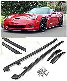 Extreme Online Store for 2005-2013 Chevrolet Corvette C6 Grand Sport & Z06   ZR1 Style Side Skirts Rocker Panels with Mud Flaps Pair (ABS Plastic - Primer Black)