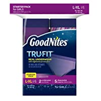 GoodNites Tru-Fit Real Underwear with Nighttime Protection Starter Pack for Girls, Large and Extra Large by GoodNites
