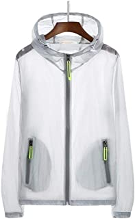 Sunscreen Clothing Female Summer New Transparent Hooded Thin Section Ladies Beach Anti-Uv Large Size 7Xl Jacket