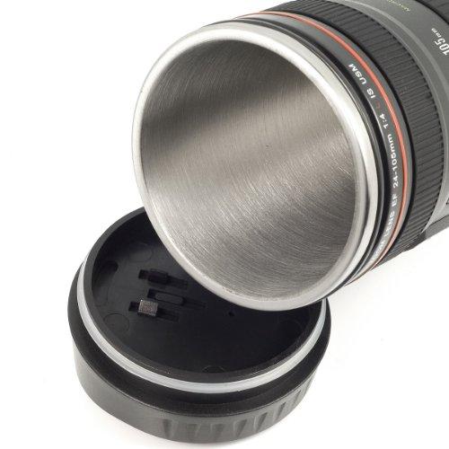 Durshani Bicchiere per Acqua t/è caff/è in Acciaio Inossidabile Stile Obbiettivo 24-105mm by
