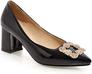 BalaMasa Womens APL12429 Pu Heeled Sandals