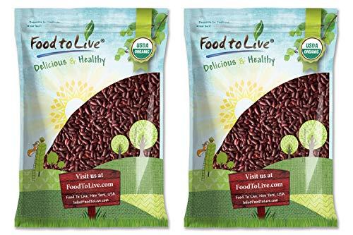 Organic Dark Red Kidney Beans (20 Pounds) - Non-GMO, Kosher, Raw, Dry Seeds, Bulk