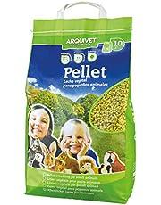 Arquivet Pellet - Lecho higiénico natural, vegetal, orgánico para gatos - pequeños mamiferos - Arena para gatos - Biodegradable - Higiene felina - Cantidad: 10 L