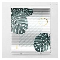 RZEMIN 遮光ロールカーテン 、印刷された調光可能なローラーブラインド、防水アルミニウム合金ルーバーカーテン、パンチフリー設置 (Color : A, Size : 95cmx170 cm)
