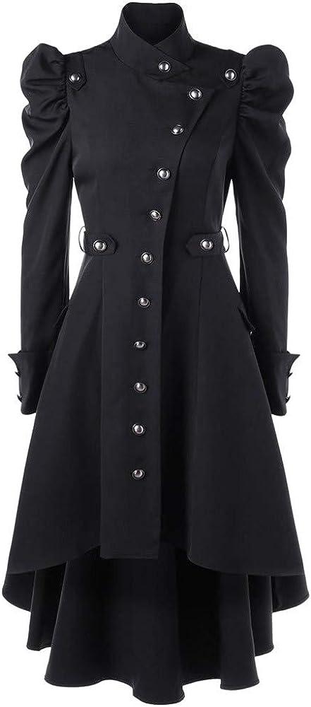 Cardigo Oversized Jackets for Womens Ladies Vintage Steampunk Long Coat Gothic Overcoat Winter Retro Sweatshirt