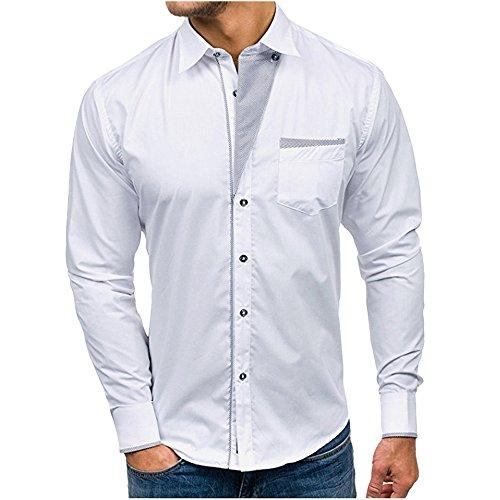 Deelin herenhemd formele slim fit lange mouwen blouses tops casual overhemd business voor mannen