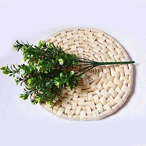 YuKeShop 1 Blumenstrauß künstliche Sträucher, Grünpflanze, künstliche Blume, grüne Pflanze für Garten, Hochzeit, Bauernhaus und Balkon, Dekoration zufällig