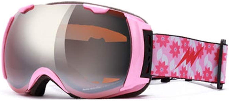 YJWOZ Ski Goggles Double Anti-fog Ski Goggles Ski Mountaineering Goggles Outdoor Mirror Ski goggles (color   A)