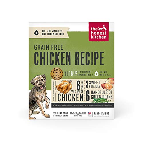 The Honest Kitchen Human Grade Dehydrated Grain Free Chicken Dog Food 4 lb - Force, Model Number: F4