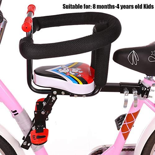 HUILING Fahrrad Kindersitz, Kindersitz Fahrrad Vorne Elektroauto Damenrad Mountainbike Kind Vorderseite Sitz Einstellbar Sicherheit Kinderfahrradsitz (Color : Red 03)