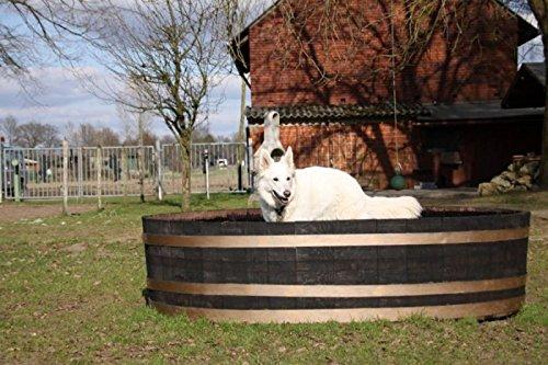 JUNIT Hunde - Badefass Tierbadefass Tiertränke Tierbadewanne Holzwanne