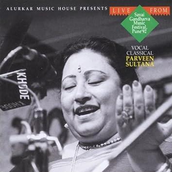 Parveen Sultana - Live from Savai Gandharva Music Festival 1992