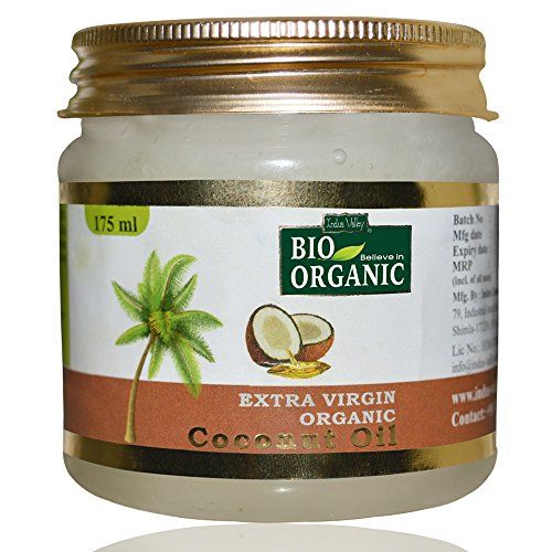 INDUS VALLEY Bio Organic Extra Virgin Organic Coconut Oil With Natural Aroma Of Coconut Oil For Hair & Skin Care - (Set of 1)...