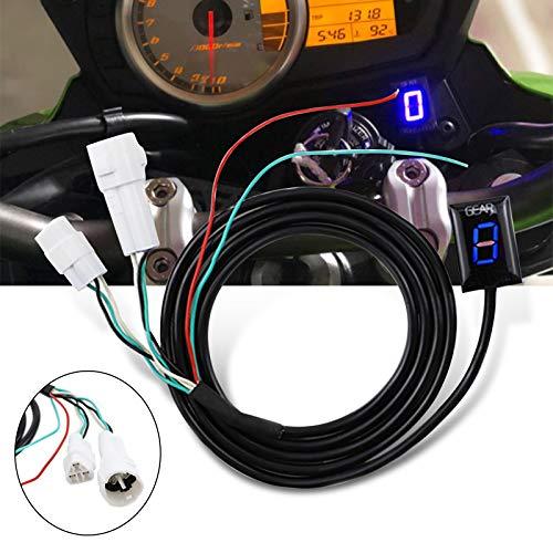GUAIMI Indicador de marcha de la motocicleta impermeable Pantalla LED (Azul) Plug & play Para Yamaha MT-01 MT-03 WR250R/X YZF-R6/S YZF-R1 FZ1 FZ6/R FZ8
