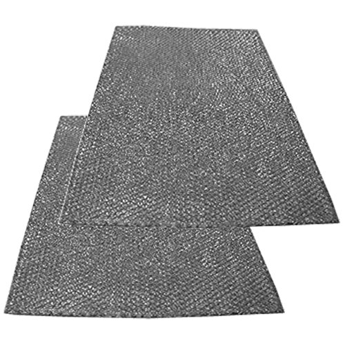 SPARES2GO Universele grote aluminium gesneden tot maat gaasfilter voor alle merken afzuigkap/afzuigkap Ventilator Ventilator (Pack van 2 filters, 90 x 47 cm)