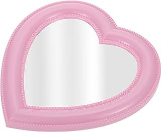 FOMIYES غرفة نوم طاولة مرآة الحائط شنقا الحب على شكل قلب مرآة مستحضرات التجميل للنساء بنات الغرور اكسسوارات الوردي