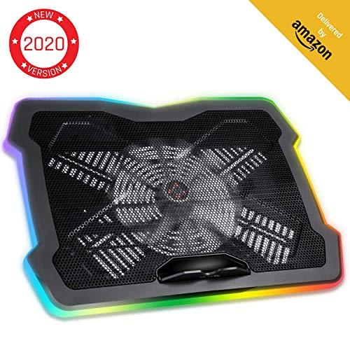 KLIM Ultimate + Laptop-RGB-Kühler- 11 bis 17 Zoll + Laptop-Gaming-Kühlung + Neuheit 2020 + USB-Lüfter + Stabil und leise + Mac- und PS4-kompatibel