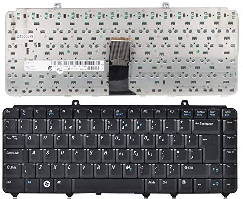 WUYILED Replacement Keyboard for Dell Inspiron 1545 PP41L P446J UK Black