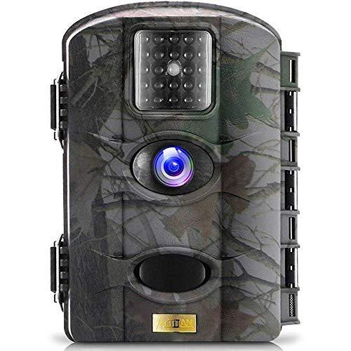TRAIL WATCHER Wildkamera Digital Fotofalle Bewegungsmelder 16MP 1080P Full HD Tag Nachtsicht Jagdkamera Weitwinkel Vision Infrarote 65ft/20m Bildschirm Wasserdicht IP65 (M330)